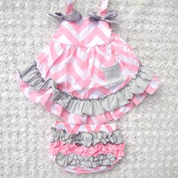 Wholesale Wholesale Baby Swings - Wholesale- 4Color Patchwork baby girls clothing set Summer style Sweet princess Sleeveless Baby girls Swing back Top set 0-2year
