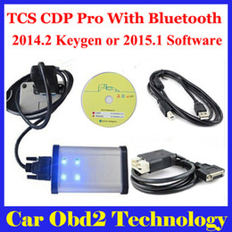 Wholesale Scanners For German Cars - [3pcs lot] 2014.2 2014.3 With Free Keygen ! Gray TCS CDP Pro Scanner With Bluetooth CDP For Cars Trucks + Carton box by DHL Free