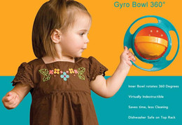 Wholesale Ufo Rotating Bowl - High Quality Children Kid Baby Toy Universal 360 Rotate Spill-Proof Bowl Dishes 2016 NEW UFO Top bowl WD026