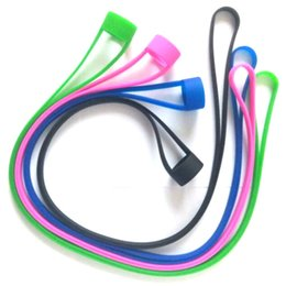 Wholesale Ego Rings - Silicone Lanyard Rings Necklace vape band String for EVIC EGO ONE I JUST S SUBVOD Target Mini kit silicone necklace with Vape Band