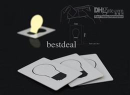 Wholesale Led Pocket Credit Card Wallet - LED Card Lights Pocket Wallet Size Credit Cards LED Bulb Light Card Cards Lights Pocket Card Pocket Wallet Size LED Bulb Light Lamp