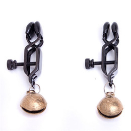 Wholesale Bell Sex Toys - Sex Toys For Couple Duck Clip Nipple Clamps Breast Bell Female Bondage Torture Breast Clip Clamp Stimulate Erotic Toys Products