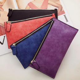Wholesale Medium Coin Purse Women - ladies designer wallets lady women fashion leather long zipper medium purses coin bags DHL free shipping