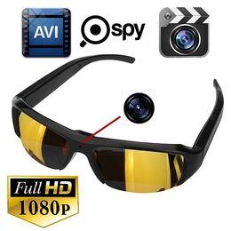 Wholesale Spy Hd Video Camera Sunglasses - FULL HD 1080P Sunglasses Camera Spy Glasses Hidden DVR Portable Camcorder Pinhole Camera Video Recorder Mini Sunglasses Camera