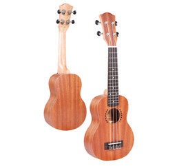 """Wholesale Guitar Concert - Free Shipping New Arrival High Quality 21"""" Concert Ukulele Mini Hawaiian Guitar 4-String Musical Instrument Sapele Wood"""