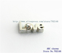 Wholesale Love Floating Charm - Wholesale- Love 10pcs Floating locket Charm Fit floating locket charm Free shipping FC1037