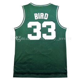 Wholesale Retro Xl - Retro Men #33 Larry Bird Basketball jersey Mesh #6 Bird jerseys Cheap sales 100% stitched embroidery logo,free shipping