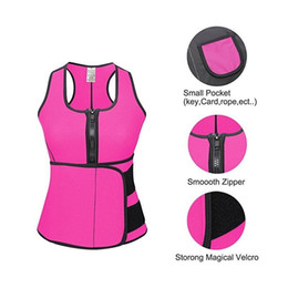 Wholesale Neoprene Sauna Workout Top Vest with Adjustable Waist Trimmer Body Shaper Control Tummy Slimming Trainer Shapewear