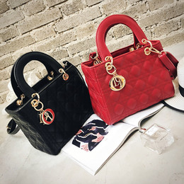 Wholesale Wild Woman - The new wild embroidery line Lingge small square bag Dai Fei handbag shoulder Messenger bag ladies bag D baobao