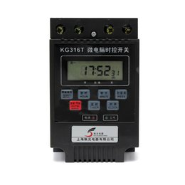 Wholesale Ac Rail - Wholesale- New KG316T-II AC 220V 30A Load Automatic Programmable Electronic Din Rail Digital Timer Switch For Universal Equipment