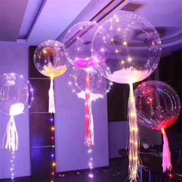 Wholesale Bright Party Supplies - Luminous Led Transparent 3 Meters Balloon Flashing Wedding Party Decorations Holiday Supplies Color Luminous Balloons Always Bright IB483