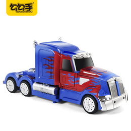 Wholesale Battery For Rc Model - GouGouShou 1:64 Boys RC Electric Transformation Robot Car Model Remote Control Acousto-optic Effective Toys Gifts For Children