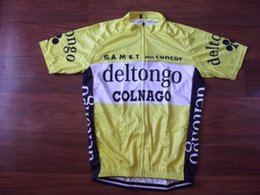 Wholesale Top Team Cycling Jersey - 2018 Brand New Team Deltongo Colnago cycling Jersey breathable cycling jerseys Short sleeve summer quick dry cloth MTB Ropa Ciclismo B32