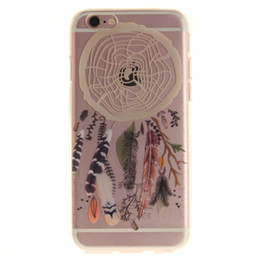 Wholesale Transparent Cell Phones For Sale - hot sale cell phone case ultra thin 3d embossed IMD dream catcher trees printing transparent tpu case for iphone 7 7s 6 6s plus