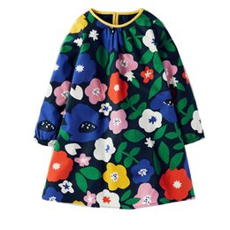 Wholesale Wholesale Fall Clothing - Girls Clothes 2018 Winter Girls Dress Fall Dress Girl Flower Girl Party Dress Children Clothing 2-7T