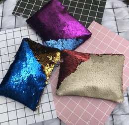Wholesale Luxury Cosmetic Bags Wholesale - Sequins Hand Bags Bling Bling Evening Envelope bag Luxury Cosmetic Bags Purse for Kids Girls Women KKA2424