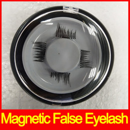 Wholesale free 3d hair - Magnetic Eye Lashes 3D Reusable False Magnet Eyelashes Extension 3d eyelash extensions magnetic eyelashes makeup dhl free shipping