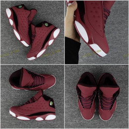 Wholesale Rubber Wine Corks - 2017 New Retro 13 XIII Men Basketball Shoes Wine red velvet High Quality 13s Mens Athletic Sneakers size:7-13