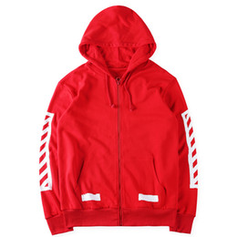 Wholesale Tracking Suit Women - 2016 Onsale Off White track suit Red Jacket Men Women High Quality Kanye West Off White Abloh Virgil Hoodie Sweatshirt Off White Hoodies