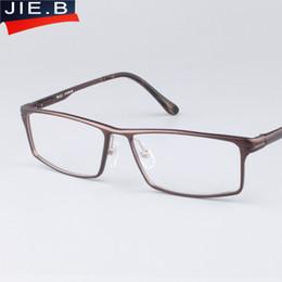 Wholesale Men Work Bags - Fashion Full-Rim Eyeglasses Frame Brand Designer Business Men Frame Hydronalium Glasses With Spring Hinge On Legs Google Eyewear