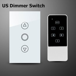 Wholesale Wireless Remote Control Dimmer Switch - Wholesale-Smart Home Broadlink Control Dimmer Switch,US Wireless Remote Control Touch Screen Switch,Wall Light Dimmer For Smart Home