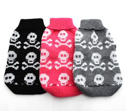 Wholesale Skull Jumpers - New Dog Pet sweater Jumper Skulls design Cat Puppy Coat Jacket Warm Clothes apparel 5 size