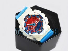 Wholesale plastic small - 2017 New colors top quality auto light relogio fashion watch 110 with box men's sports watch water resistant,all small dials work