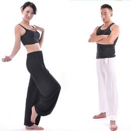 Wholesale Dance Pencil - Plus Size XXXL Pants Men Modal Arts Pant Dancing Jogger Mens Summer Nepal Bloomers Tai Chi Black Grey Loose Oversized Trousers
