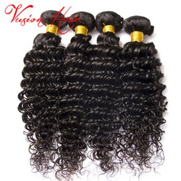 4pcs lot Deep Wave Virgin Hair Brazilian Peruvian Malaysian Indian Hair Weaves Brazilian Deep Curly Virgin Hair Weft Unprocessed Remy Weave Coupons