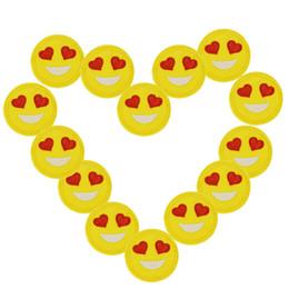 2020 smile badges 10 pcs olho do coração Sorrindo rosto patches emblemas para roupas de ferro bordado patch applique ferro em remendos acessórios de costura DIY smile badges barato