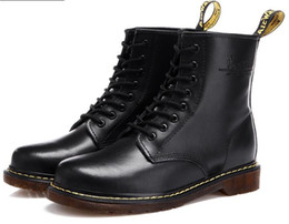 Wholesale Laced Heels - DR MARTENSS Unisex Leather Martin Boots Vintage Combat Boot Hiking Sports Shoes Women Flat-Bottomed Casual Martin Ankle Boots 1460 8 EYE