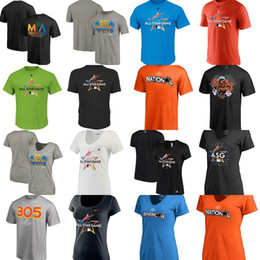 Wholesale Womens Ripped Shirts - 2017 MLB All-Star Game American League Fanatics Branded National League mens womens youth blank V-neck T-Shirts  Jereys size XS-6XL