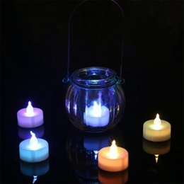 Wholesale Battery Operated Tea Light Candle - 120pcs LED Tealight Tea Candles Flameless Light yellow blue red warm white Battery Operated Wedding Birthday Party Christmas Decoration