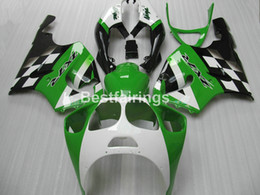 Komplettes ABS Karosserieteile Kit für Kawasaki Ninja ZX7R 1996-2003 grün weiss schwarz Verkleidungen Set ZX7R 96-03 TY62 von Fabrikanten