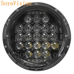 Wholesale Projector Low Beam - Free Shipping! 1pcs H4 7 inch Motorcycle Projector Daymaker LED Headlight High Low Beam Light For Harley Davidson Tour Glide