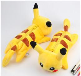 Wholesale Office Wallets - Plush Pencil Bags Pikachu Coin Purse Bag Cartoon Poke Plush Coin Wallet Pouch