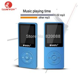 Wholesale Free Card Readings - Wholesale- New Latest Ultrathin 8GB MP3 Player with 1.8 Inch Screen can playing 80H, 100%Original RUIZU X02 Plus, Free Shipping