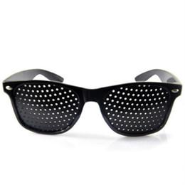 Wholesale Vision Eye Exercises - New Anti-myopia Pinhole Glasses women men Pin hole Sunglasses Eye Exercise Eyesight Improve Natural Healing vision Care Eyeglasses