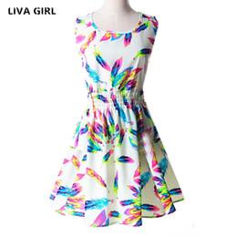 Wholesale Style For Women Working Dress - Wholesale- 2017 New Women's Summer Dress Sleeveless O-neck Print Flowers Ukraine Style Vestidos A-line Dresses for Women Zomer Jurk