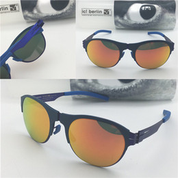 Wholesale branded memory - Germany designer men brand sunglasses IC 67 NixenstraBe ultra-light without screw memory alloy glasses removable stainless steel metal frame