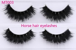 Wholesale Horse Hair Extensions - mt003 Horse Hair False Eyelashes 100%Handmade with High Quality Super Thick Long Eye Extension for Makeup