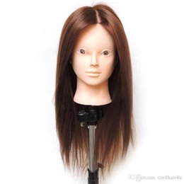 Wholesale Training Heads For Hairdressing - 22inches Synethic Hairdressing Mannequin Practice Training Head For Beauty Mannequin Head With Hair