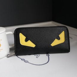 Wholesale Yellow Wallets For Women - Miyahouse New Fashion Little Monster Women Wallets Long Monster Eyes Purses For Female High Quality Daily Clutches PU Wallets