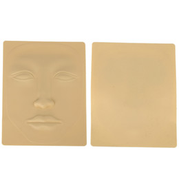 Wholesale Airbrush Tattoo Face Stencils - Wholesale- 2017 Hot sale Makeup Cosmetic Facial Tattoo 3D Silicone Permanent Face Eyes Eyebrow Practice Skin Praxis-Haut Tattoo Stencils