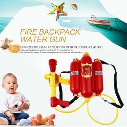 Wholesale Super Soaker Guns - HOT Sale Kids Cute Outdoor Super Soaker Blaster Fire Backpack Pressure Squirt Pool Toy Children Summer Beach Gaming Water Gun