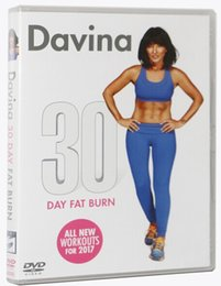 Wholesale New Dvd Movie Wholesalers - Wholesale top quality Fitness Videos Workout dvd movies Davina 30 Day Fat Burn (New for 2017)