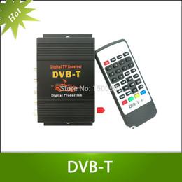 Wholesale Digital Tv Receiver Antenna - Wholesale-Car DVB-T MPEG-4 HD tuner Digital TV BOX receiver box Single Antenna for European Free shipping