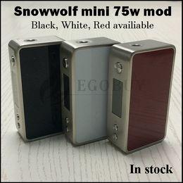 Original sigelei 75w mod on-line-100% original Snowwolf Mini 75 w Temp-Controle mod Lobo da neve 75 18650 bateria Mods TC Box vs sigelei 150 w além de 80 w vt75 nano pico