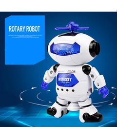 Новый Танцующий Робот 360 Вращающийся Космический Музыкальный Walk Lighten Электронные Игрушки Рождество День Рождения Лучшие Gifs Для Детей Игрушки от Поставщики летучая рыбная игрушка оптом