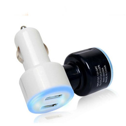 Wholesale Cigarette Lighter Car Battery Charger - Wholesale- LED Dual USB 2A Car Charger adapter cigarette lighter encendedor battery quick charge Free Shipping
